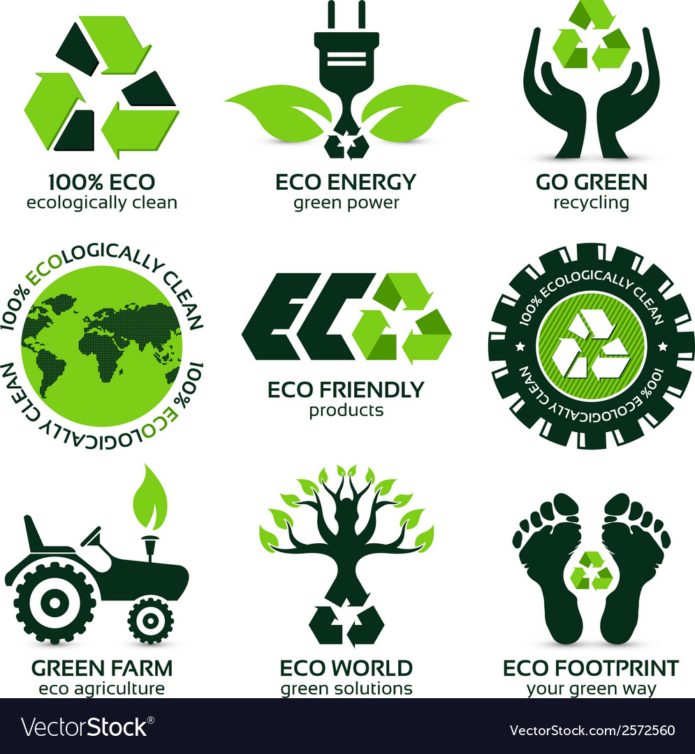 Eco label and symbol set vector | Price: 1 Credit (USD $1)
