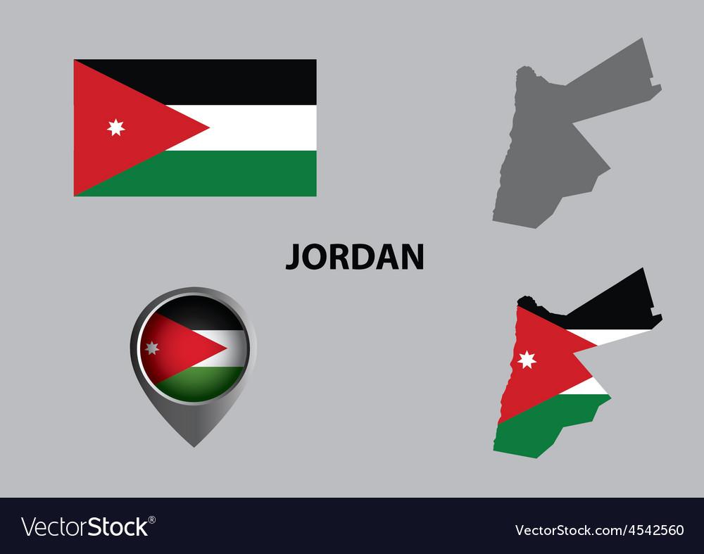 Map of jordan and symbol vector | Price: 1 Credit (USD $1)
