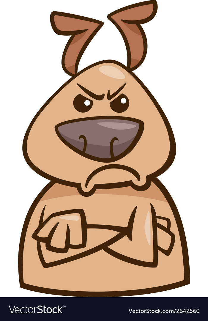 Mood angry dog cartoon vector | Price: 1 Credit (USD $1)