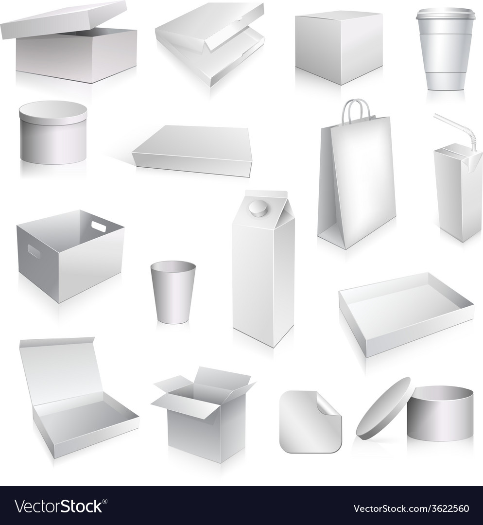 Packaging set blank vector