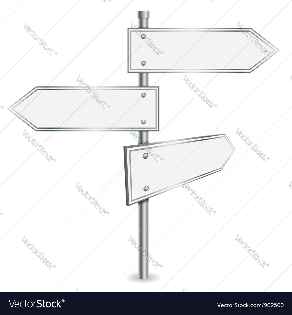 Pole with road signs vector | Price: 1 Credit (USD $1)