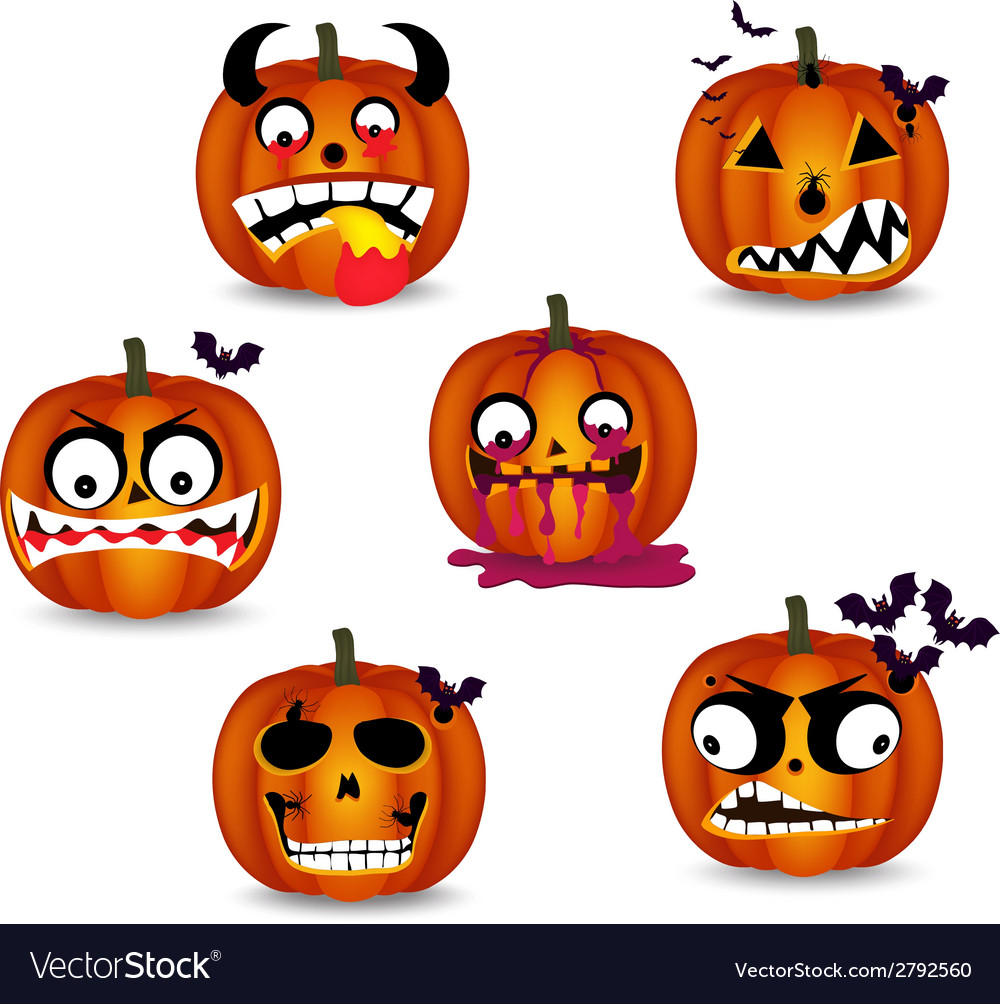 Pumpkins face emotion vector | Price: 1 Credit (USD $1)