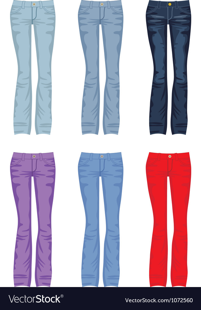 Set of jeans vector | Price: 1 Credit (USD $1)