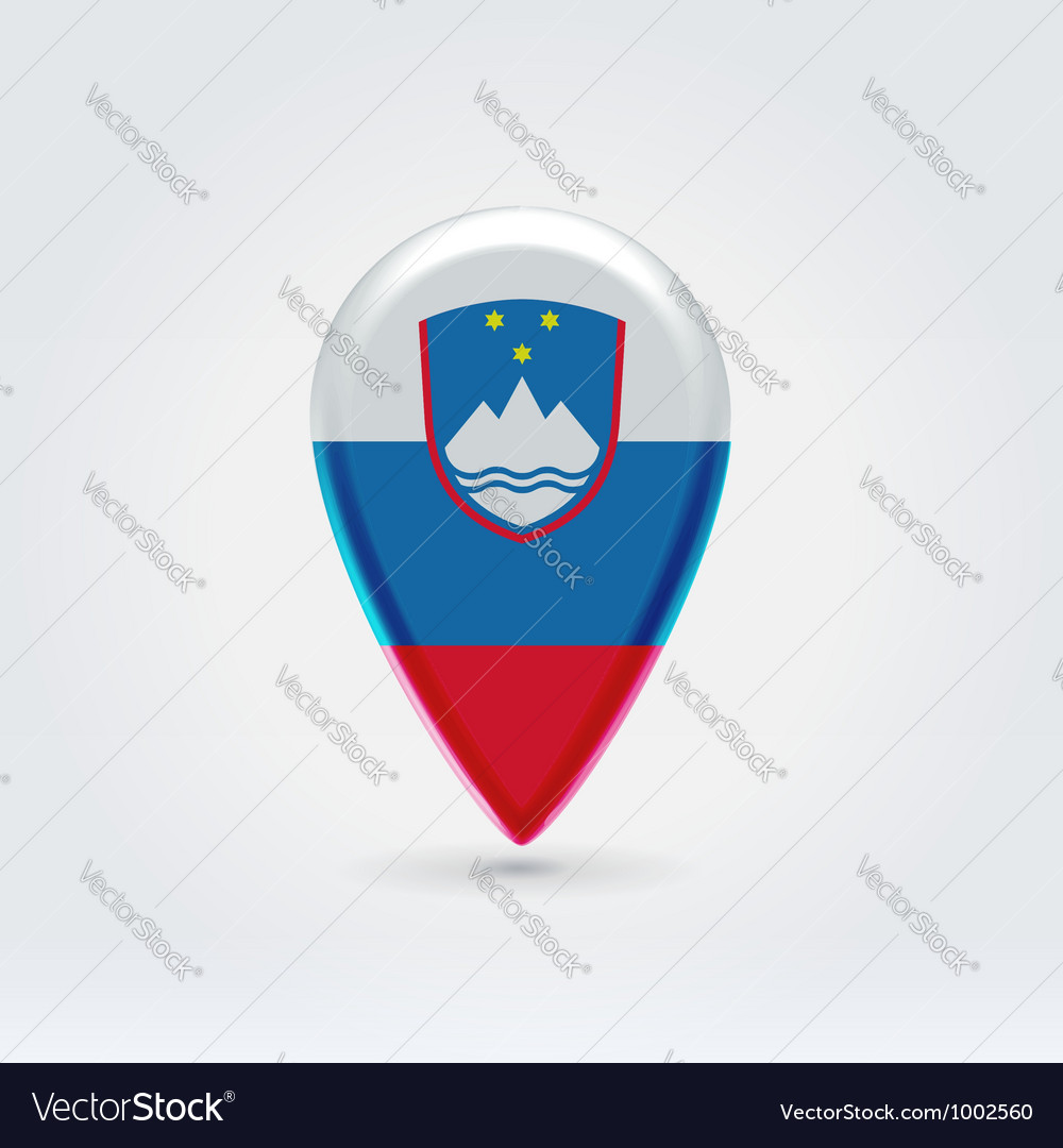 Slovenian icon point for map vector | Price:  Credit (USD $)