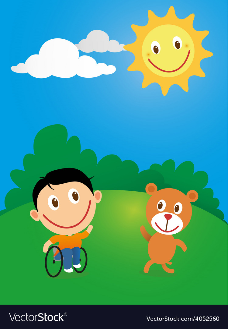 Wheelchair child vector | Price: 1 Credit (USD $1)