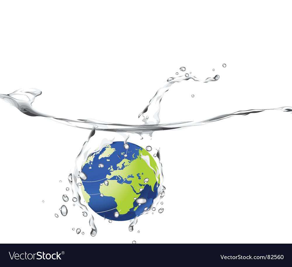 World splash vector | Price: 1 Credit (USD $1)