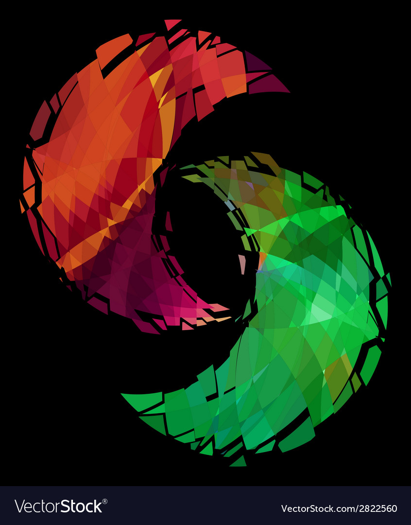 Yin-yang symbol ice and fire vector | Price: 1 Credit (USD $1)