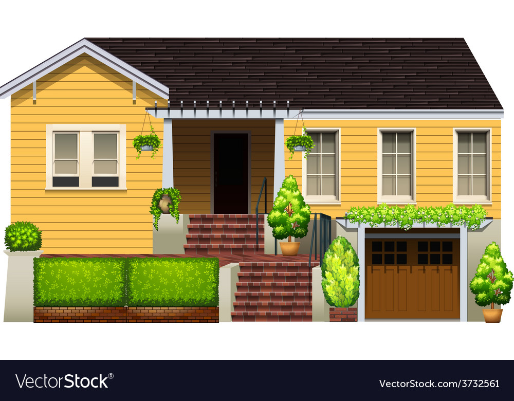A big yellow house vector | Price: 1 Credit (USD $1)