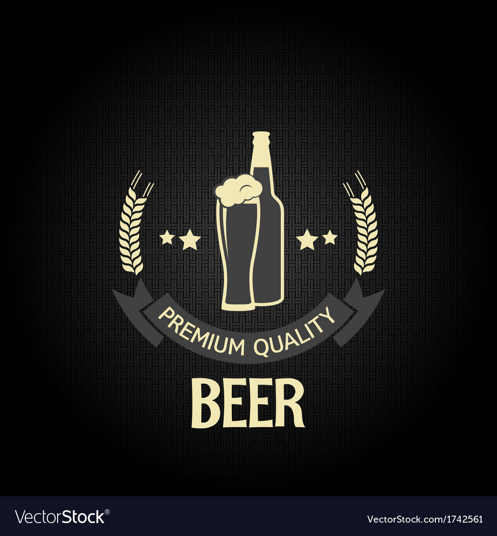 Beer bottle glass design background vector | Price: 1 Credit (USD $1)