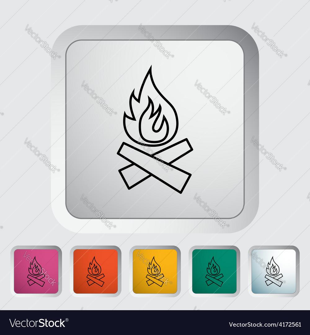 Bonfire icon vector   Price: 1 Credit (USD $1)