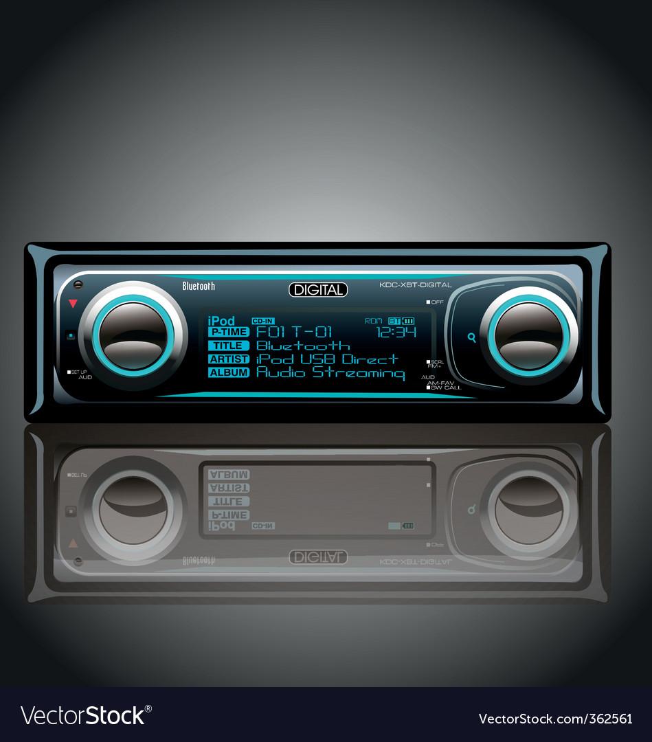 Car radio vector | Price: 1 Credit (USD $1)