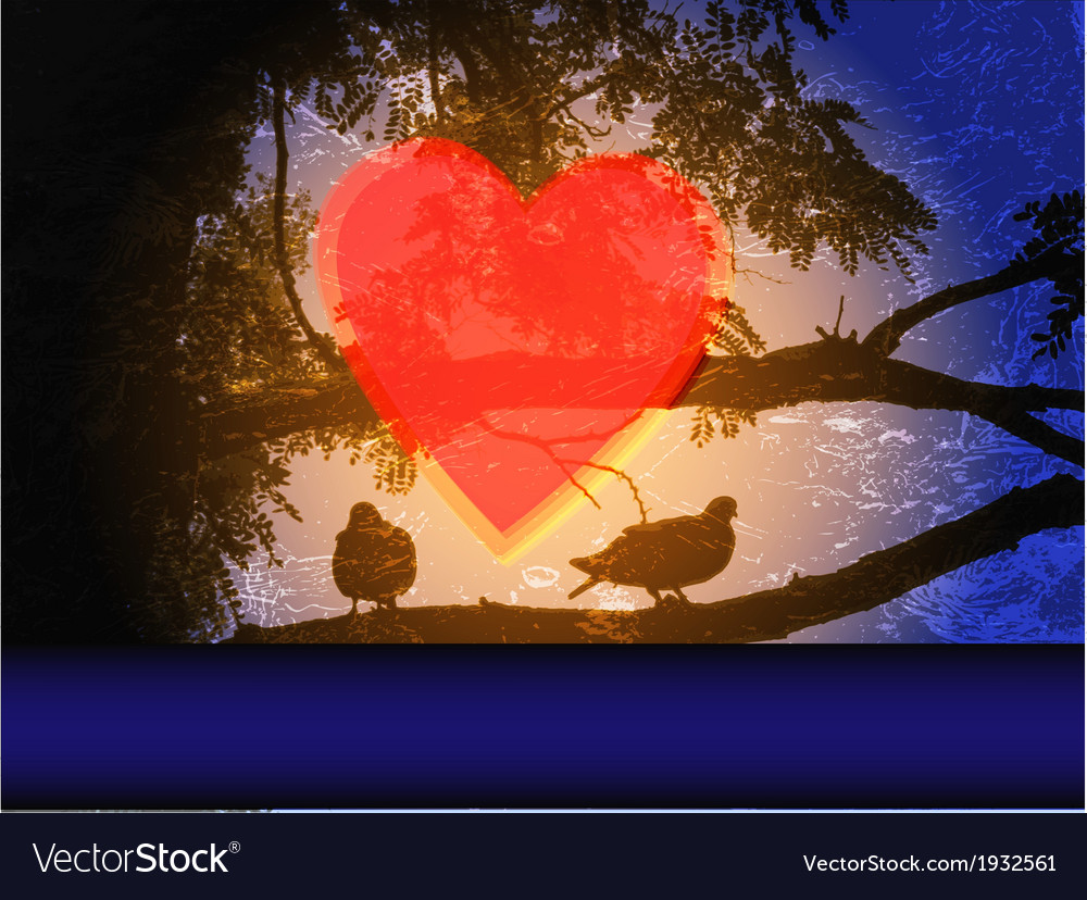 Doves in a tree vector   Price: 1 Credit (USD $1)