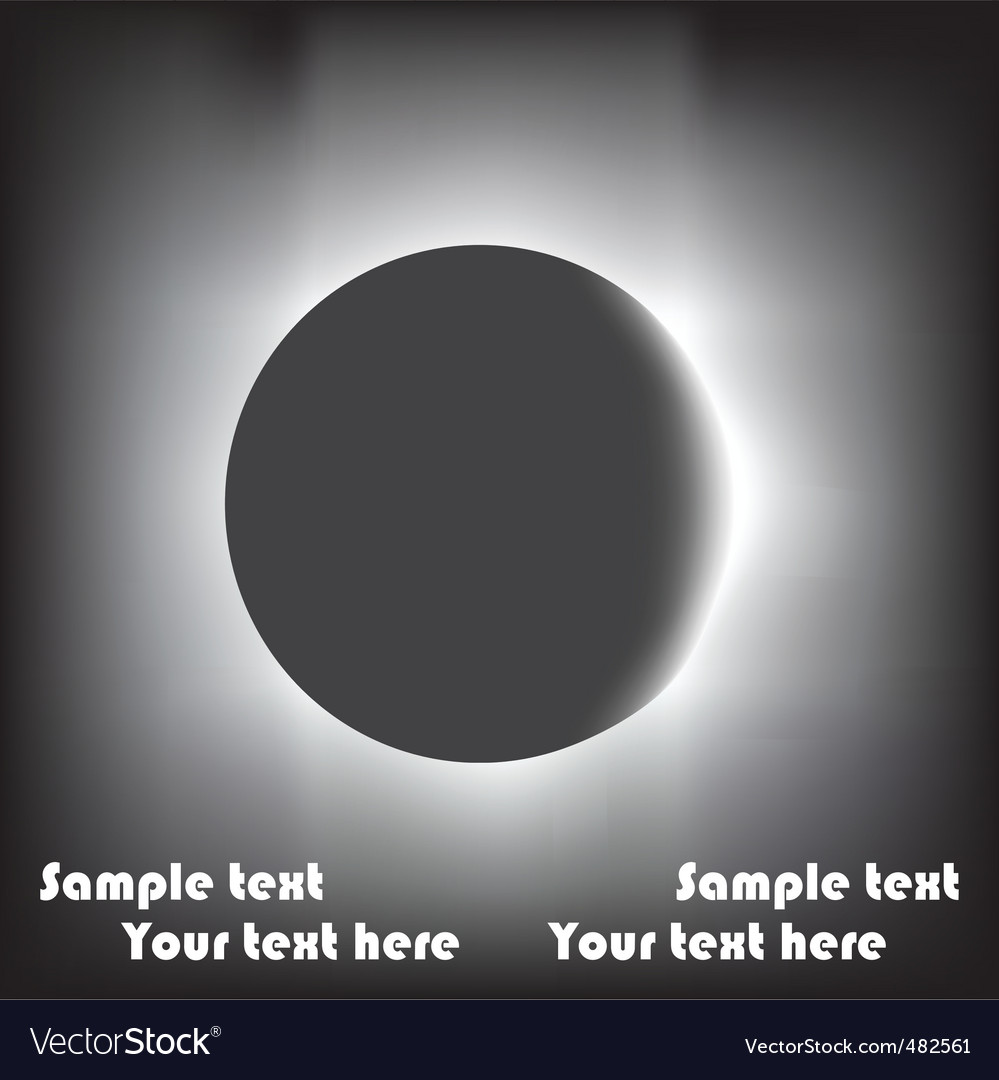 Eclipse background vector | Price: 1 Credit (USD $1)