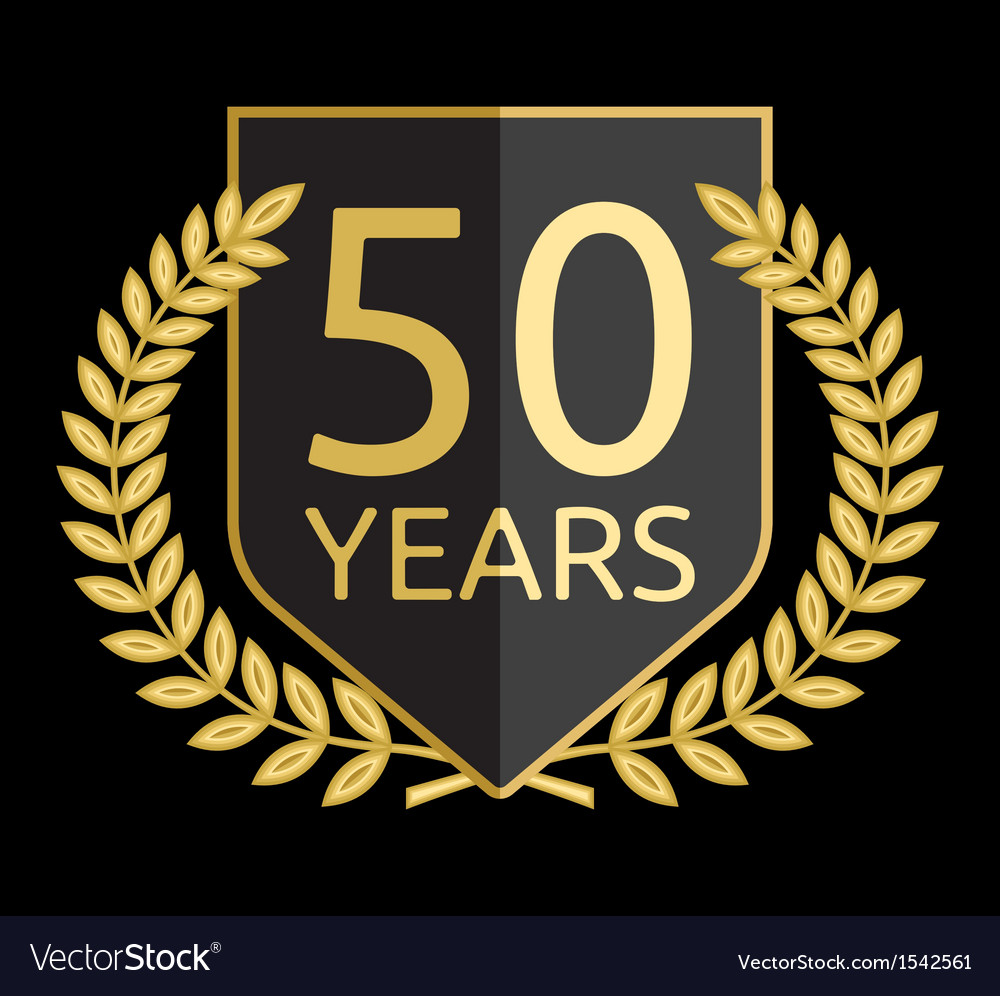 Laurel wreath 50 years vector | Price: 1 Credit (USD $1)