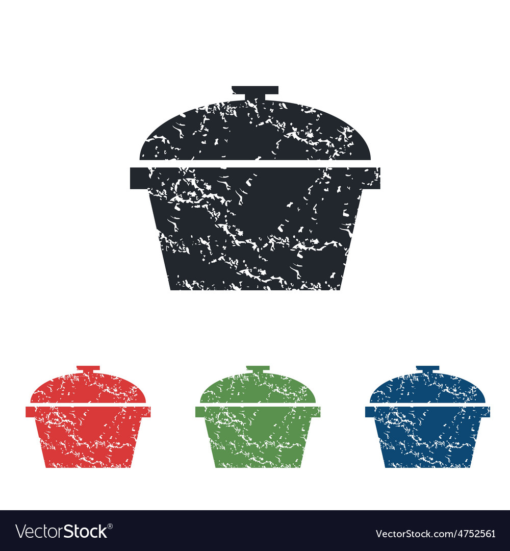 Pan grunge icon set vector | Price: 1 Credit (USD $1)