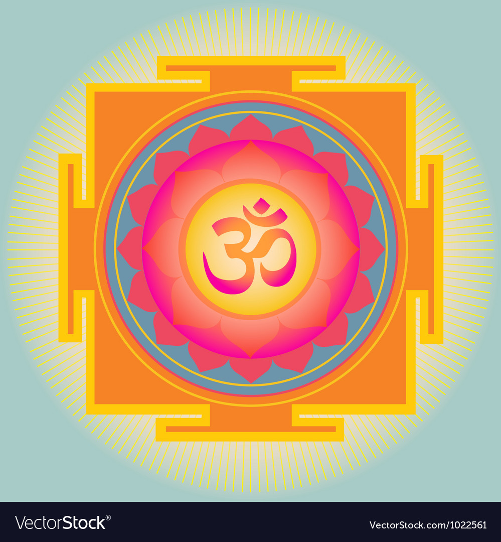 Sacred geometry aum yantra vector | Price: 1 Credit (USD $1)