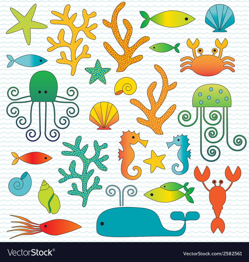 Sealife vector | Price: 1 Credit (USD $1)