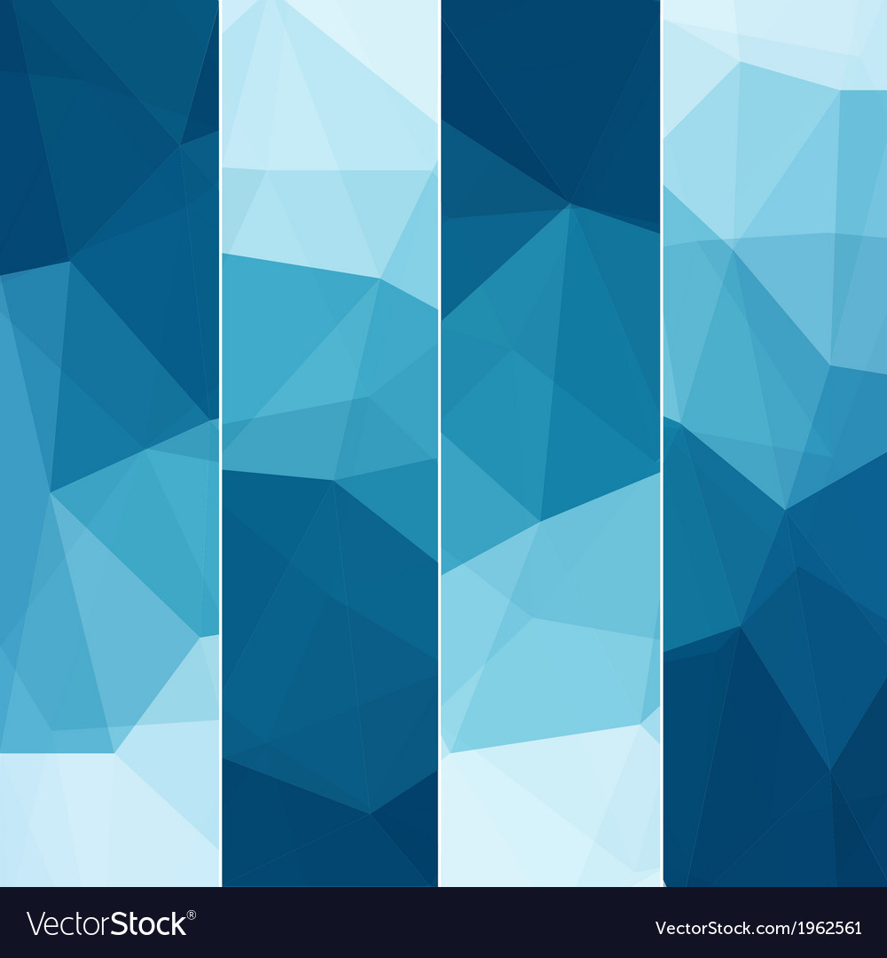 Set of abstract blue background vector | Price: 1 Credit (USD $1)