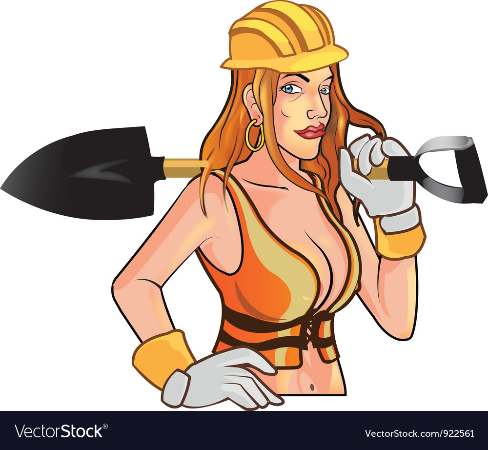 Sexy construction worker mascot vector | Price: 3 Credit (USD $3)