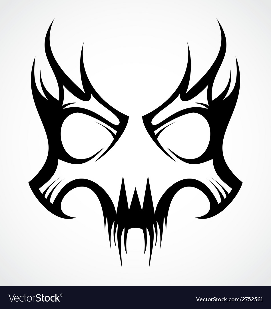 Skull mask tattoo design vector | Price: 1 Credit (USD $1)