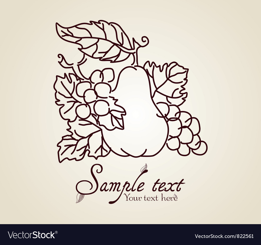 Vintage fruits vector | Price: 1 Credit (USD $1)