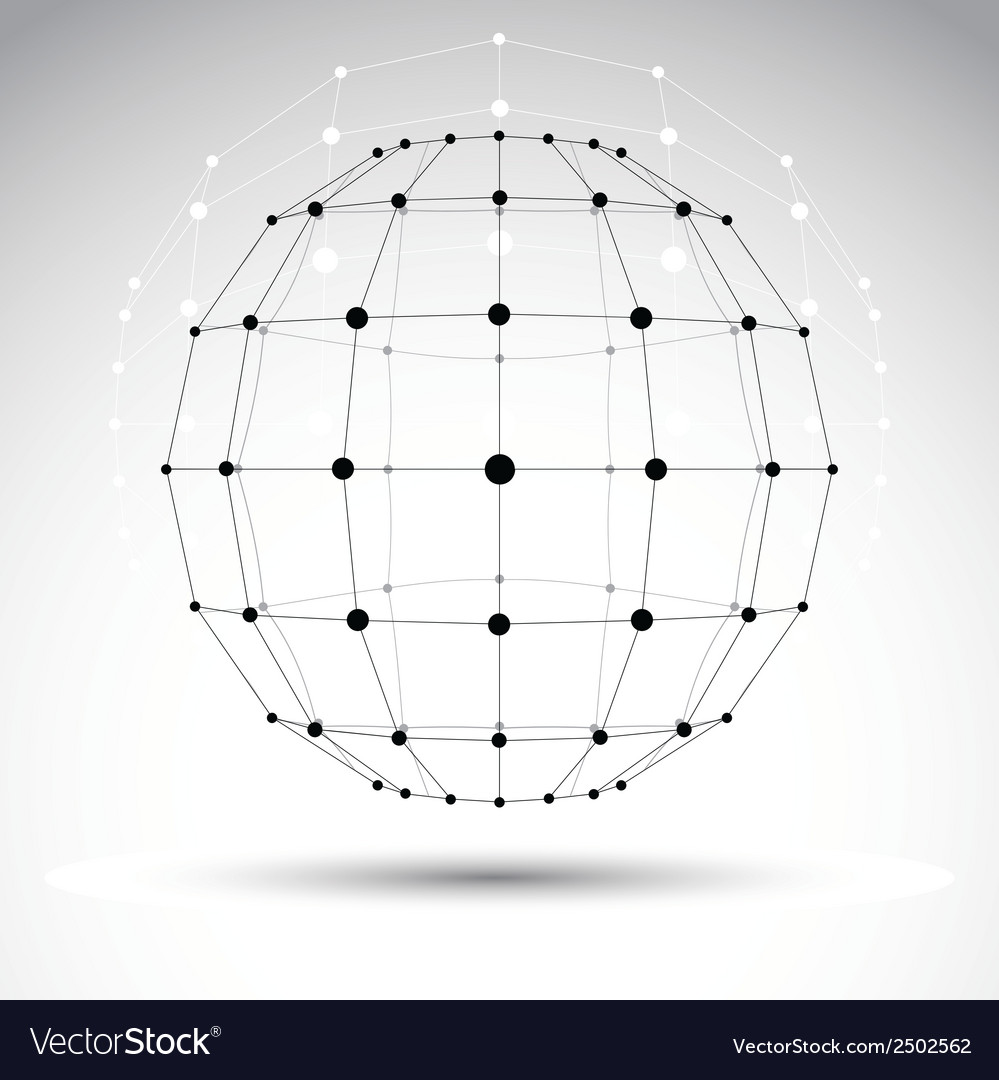 Abstract 3d origami polygonal wireframe object vector   Price: 1 Credit (USD $1)