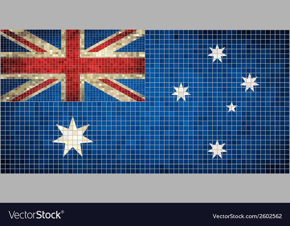 Australian flag mosaic vector | Price: 1 Credit (USD $1)