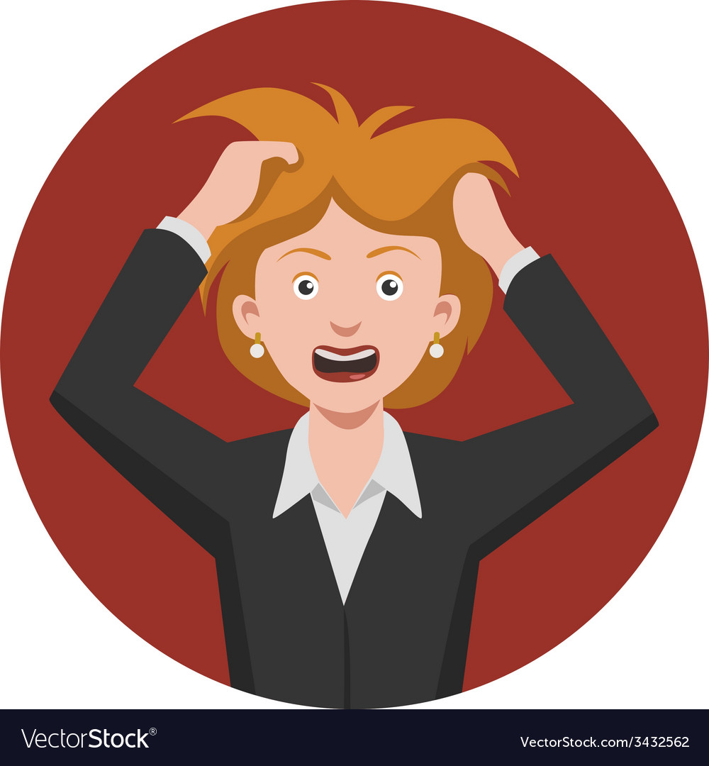 Frustrated woman vector | Price: 1 Credit (USD $1)
