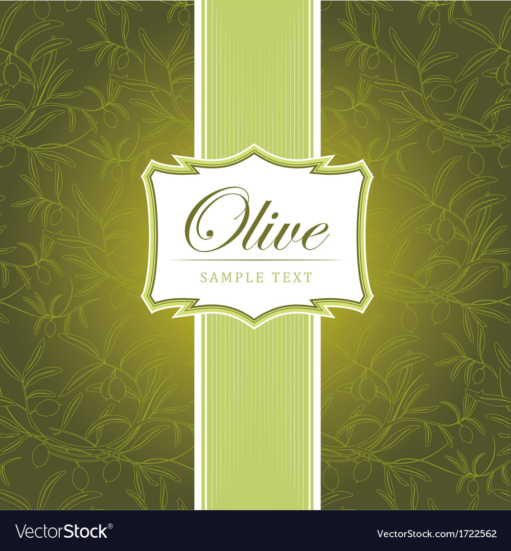 Olive background vector | Price: 1 Credit (USD $1)