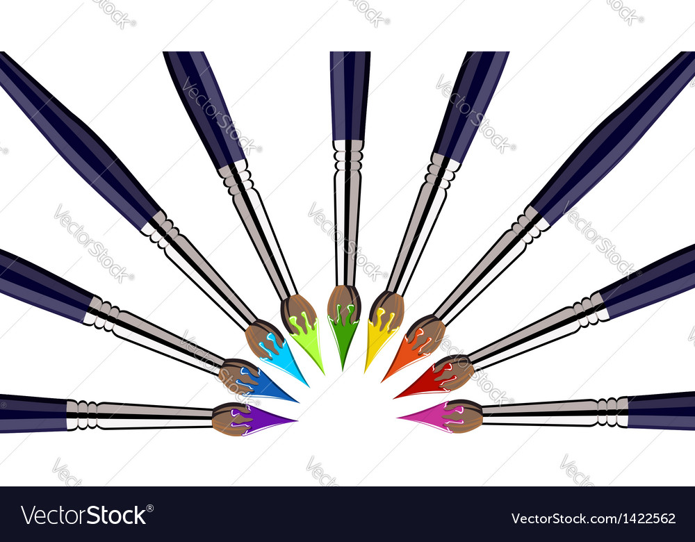 Paint brushes background vector | Price: 1 Credit (USD $1)