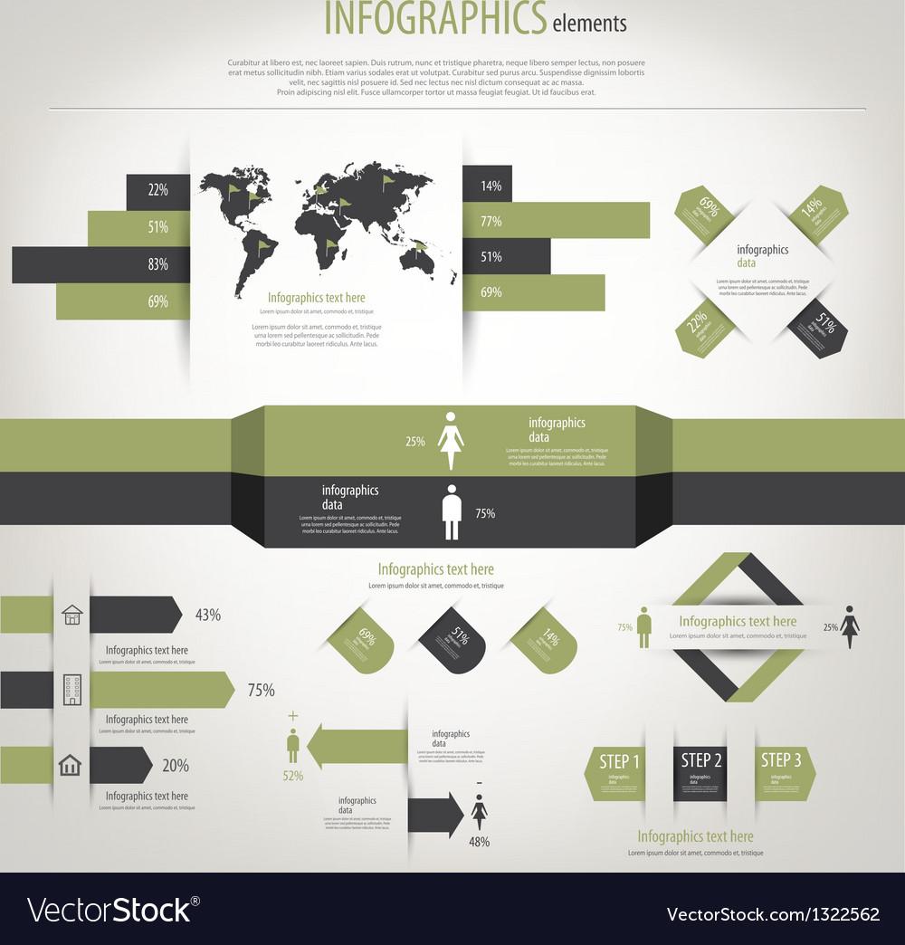 Retro infographics vector | Price: 1 Credit (USD $1)