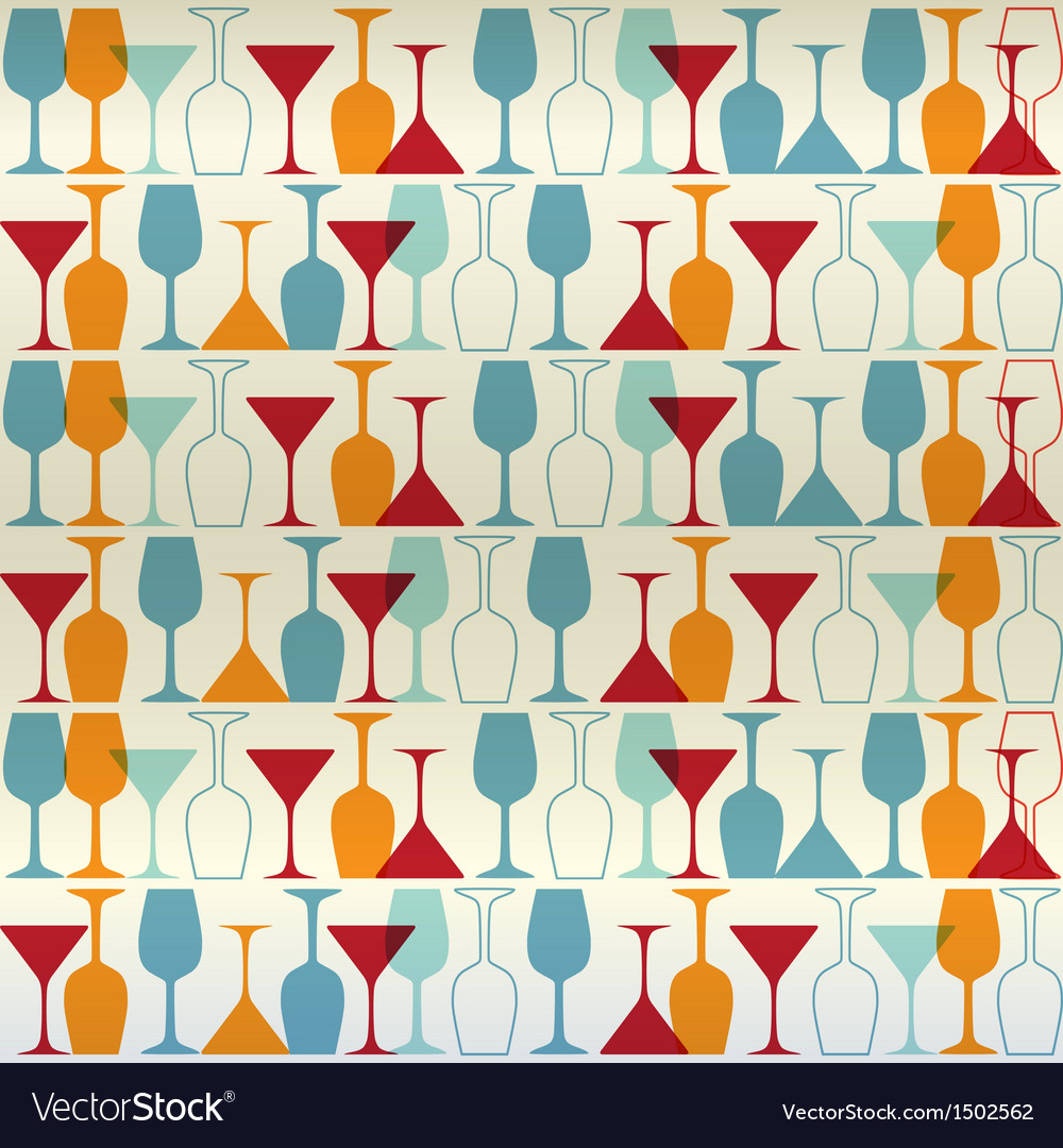 Seamless wine cocktailglass vector | Price: 1 Credit (USD $1)