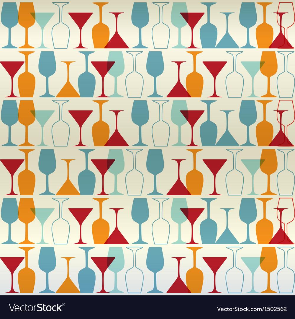 Seamless wine cocktailglass vector | Price: 1 Credit (USD $1)