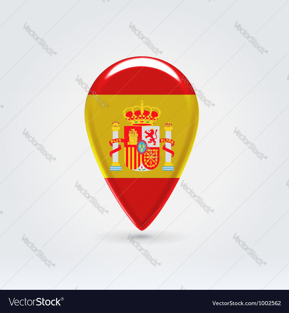Spanish icon point for map vector | Price:  Credit (USD $)