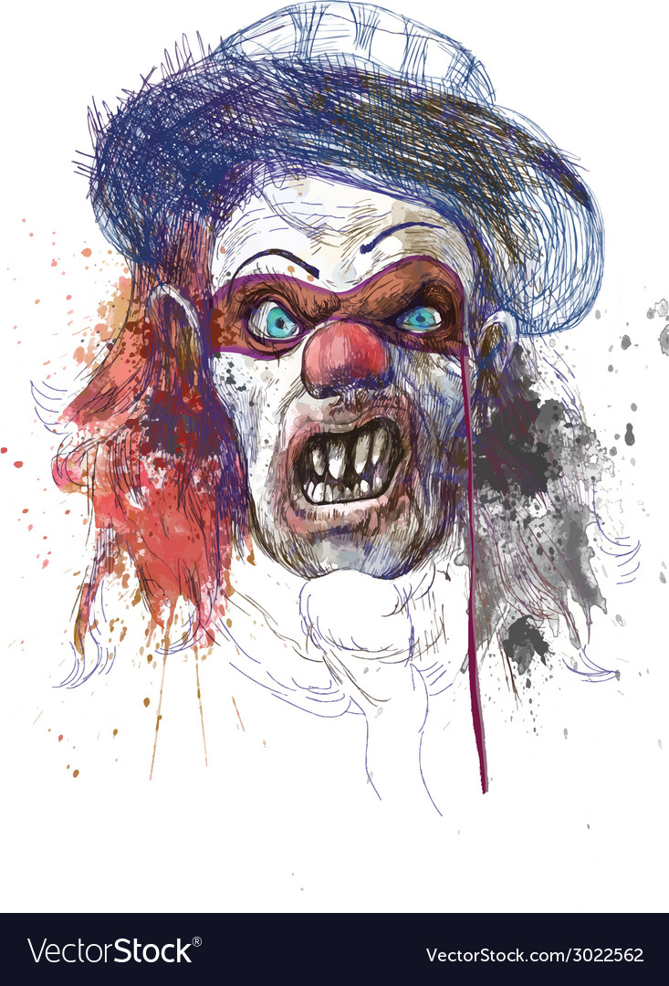 Spooky clown vector | Price: 1 Credit (USD $1)