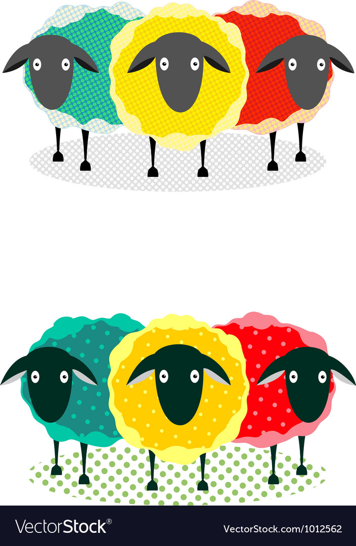 Three sheep vector | Price: 1 Credit (USD $1)
