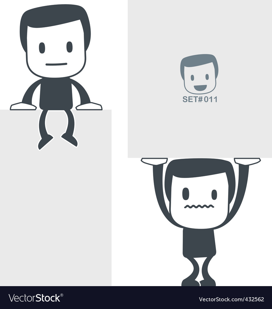 Weight icon man set011 vector | Price: 1 Credit (USD $1)