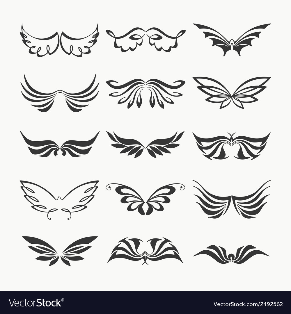 Wings collection vector | Price: 1 Credit (USD $1)