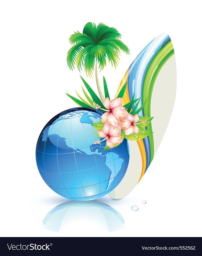 World summer vector | Price: 3 Credit (USD $3)