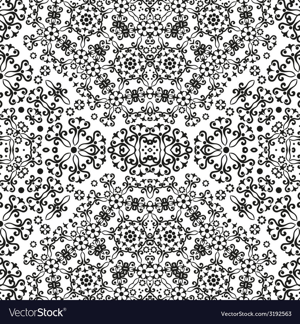 Abstract seamless floral background vector | Price: 1 Credit (USD $1)