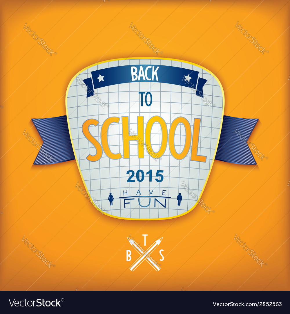 Back to school 3d badge vector | Price: 1 Credit (USD $1)