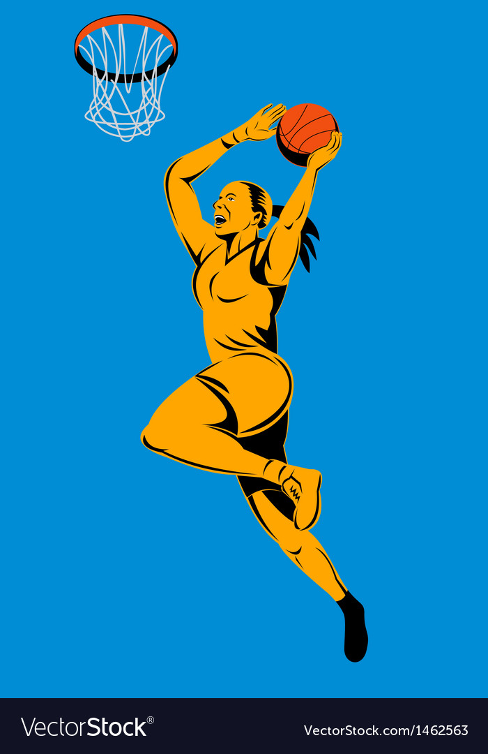 Basketball player laying up ball vector | Price: 1 Credit (USD $1)