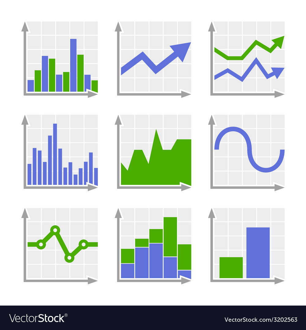 Business infographic colorful charts and diagrams vector | Price: 1 Credit (USD $1)