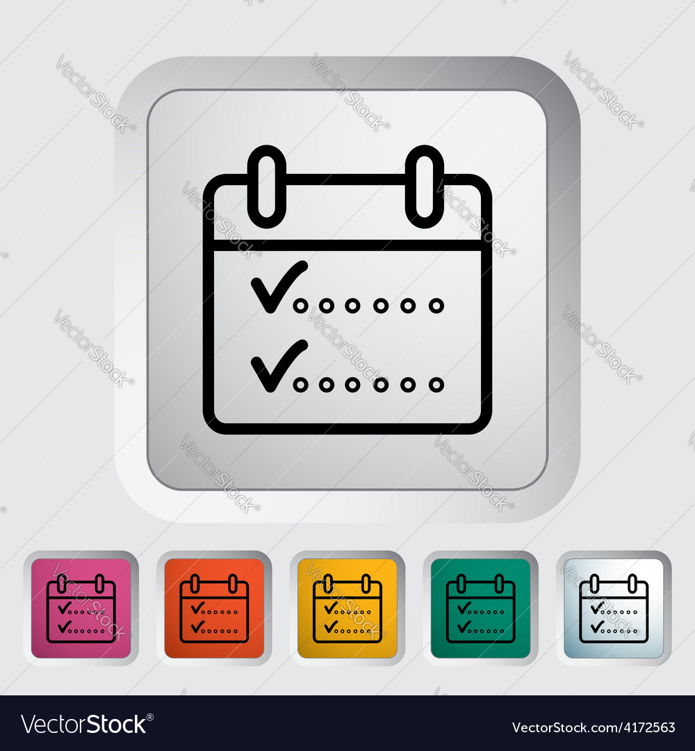 Calendar whit check vector | Price: 1 Credit (USD $1)