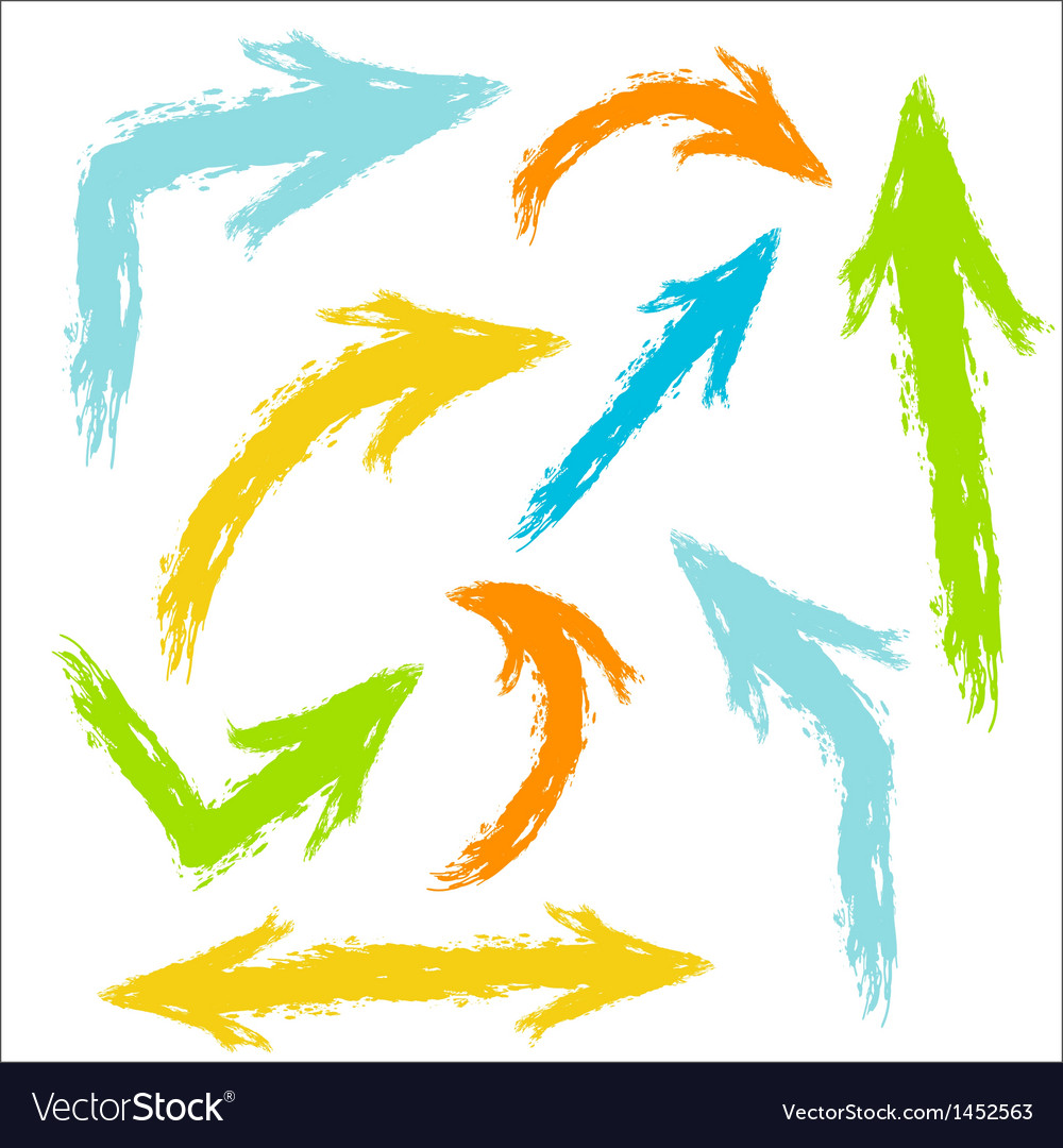 Colorful painted arrows vector | Price: 1 Credit (USD $1)