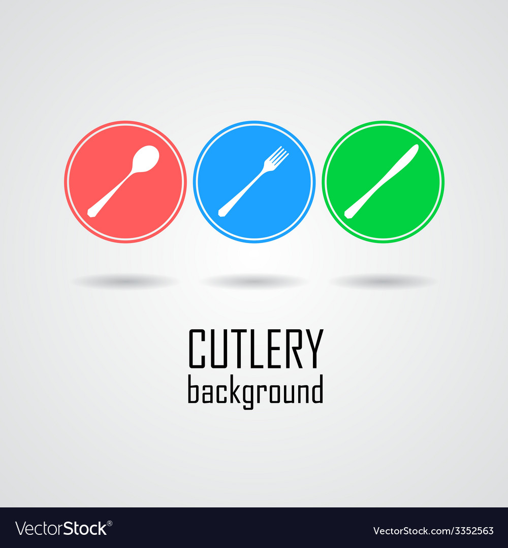 Cutlery symbols vector | Price: 1 Credit (USD $1)