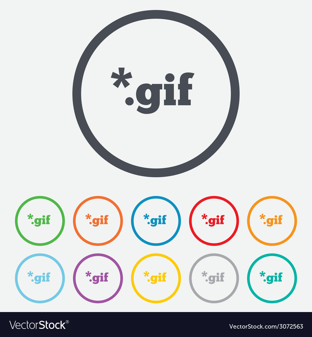 File gif sign icon download image file vector | Price: 1 Credit (USD $1)