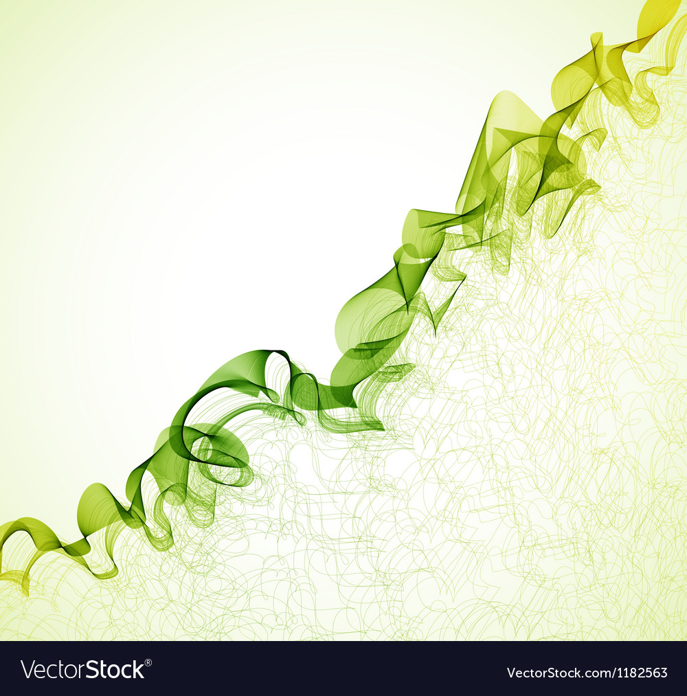 Green wave abstract background vector | Price: 1 Credit (USD $1)