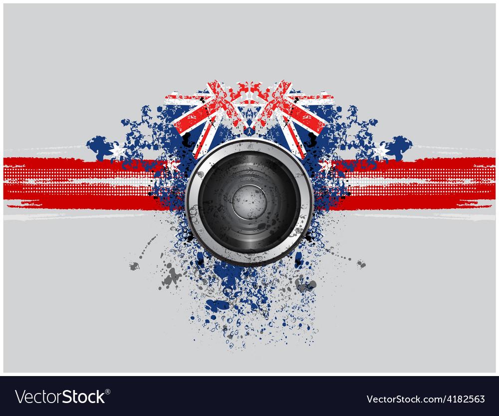 Grunge music speaker vector | Price: 1 Credit (USD $1)