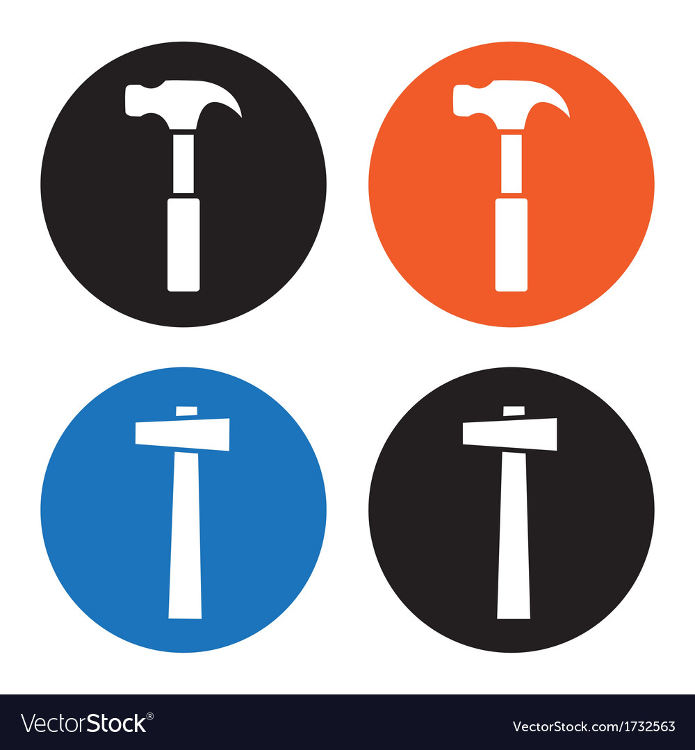 Hammer icons vector | Price: 1 Credit (USD $1)